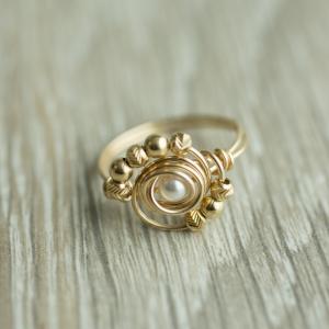 טבעת פנינה שמש