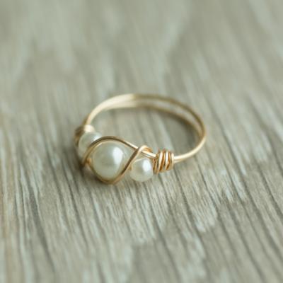 טבעת 3 פנינים