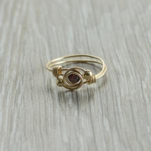 טבעת אבן חן גרנט