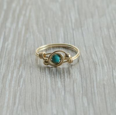 טבעת אבן חן טורקיז