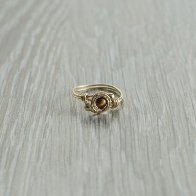 טבעת אבן חן טייגר איי