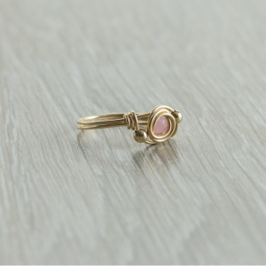 טבעת אבן חן רוז קוורץ