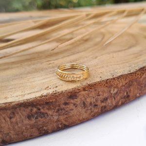 טבעת רגל ליפופים זהב