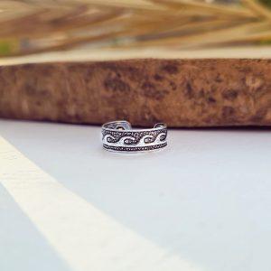 טבעת רגל פס גלים